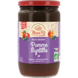Purée pommes Myrtilles 680 g Mamie Bio