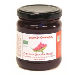 Confiture de Groseilles rouges Fraise et Compagnie 230 g bio
