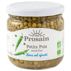 Petits Pois bio extra-fin 240 ml sans sel ajouté