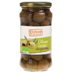Olives vertes Dénoyautées bio 350 g Elibio