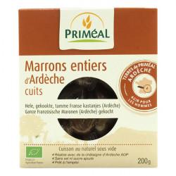 Marrons entiers d'ardèche cuits bio 200g