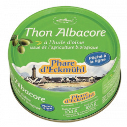 Thon albacore huile d'olive 160g Phare d'Eckmül