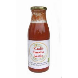 Coulis de tomates-basilic bio 500 ml Soleils de Normandie