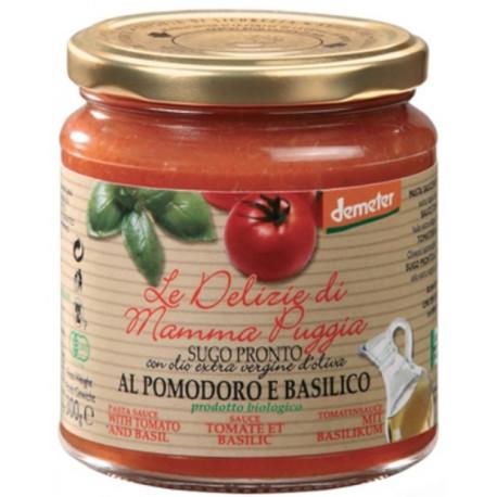 Sauce tomate basilic bio 300 g Le Delizie Della Mamma