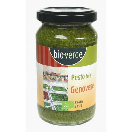 Pesto bio frais au basilic 165g Bioverde
