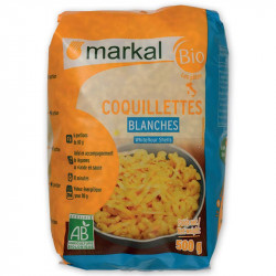 Coquillettes blanches bio 500 g Markal