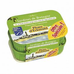 Lot de 2 boite de sardines à l'huile d'olive bio 2 x135g