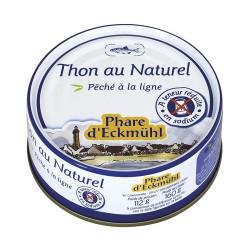 Thon albacore au naturel 160g, à teneur réduite en sel