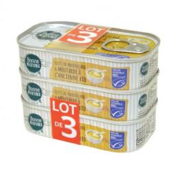 Maquereaux à la moutarde, lot de 3 x 113 g Bonne Nature