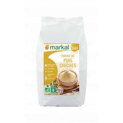 Farine de pois chiches bio 500 g Markal