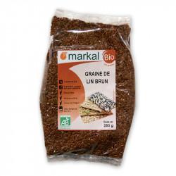 Graines de lin brun bio 250g Markal