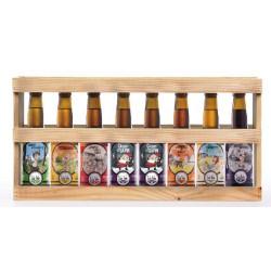 Demi-mètre de bières bio coffret bois