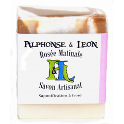 Savon artisanal 100 g Rosée matinale, Alphonse et Léon