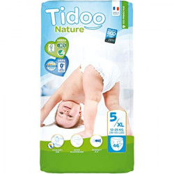 Couches Tidoo nature T5/XL 12-25 kg paquet de 46