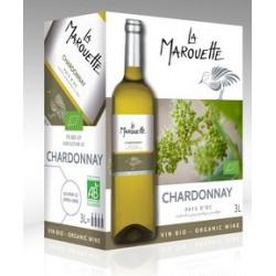 Vin blanc bio Chardonnay BIB 3 l La Marouette