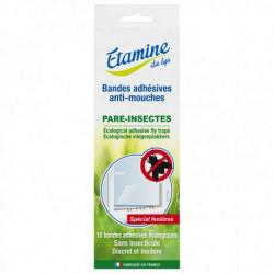 Bandes adhesives anti-mouches x 10 Etamine du lys