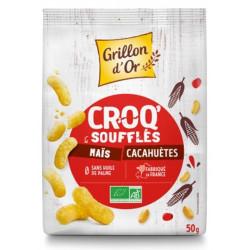 Croq'cacahuète bio 50 g Grillon d'or