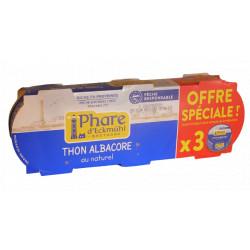 Lot 3 boites de thon naturel 3 x 160 g