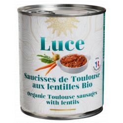 Saucisses de Toulouse aux lentilles bio 840 g Luce