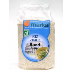 Riz rond blanc bio 1 kg italie Markal