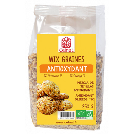 Mix graines antioxydant 250 g Celnat