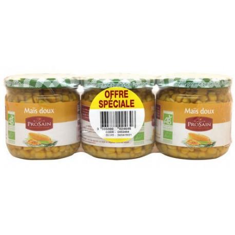 Maïs doux bio lot de 3 x 240 g Prosain