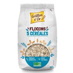 Flocons 5 céréales toastées bio 500 g Grillon d'Or
