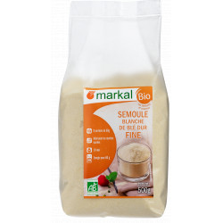 Semoule blanche de blé dur fine bio 500 g Markal