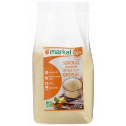 Semoule blanche de blé dur grosse bio 500 g Markal