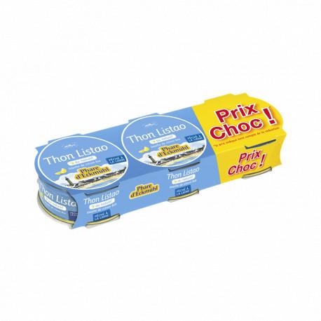 Lot de 3 boites thon Listao, touche de citron 3 x 160 g