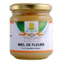 Miel fleurs bio crèmeux 250g Moulin des moines