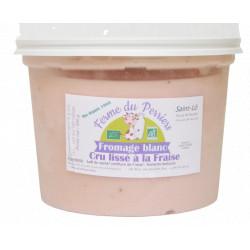 Fromage blanc lissé bio fraise 50 cl Ferme du Perriers