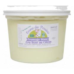 Fromage blanc lissé bio citron 50 cl Ferme du Perriers
