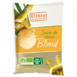 Sucre de canne blond bio en poudre 1 kg Elibio